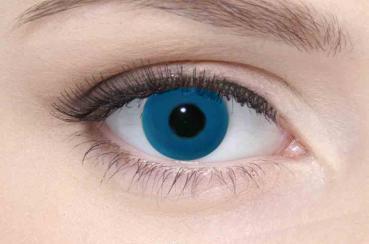 LIEBEVUE Colour Accent Blue – Farbige Kontaktlinsen – Cosplay – 3 Monate – 2 Stück