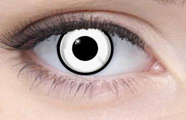 LIEBEVUE Funky Zombie White – Farbige Kontaktlinsen – Cosplay – 3 Monate – 2 Stück