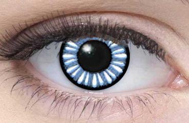 LIEBEVUE Manga Baby Blue – Farbige Kontaktlinsen – Cosplay – 3 Monate – 2 Stück