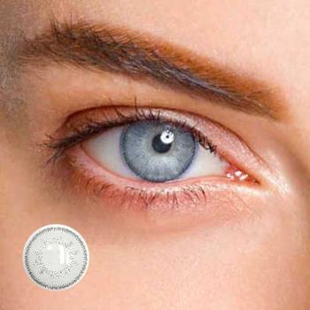 LIEBEVUE Eva White Gray – Farbige Kontaktlinsen – 3 Monate – 2 Stück